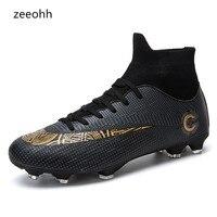 Мужские высокие кроссовки для тренировок на лодыжке с подошвой АГ, уличные бутсы, футбольные бутсы с шипами, мужские футбольные бутсы, ориги...
