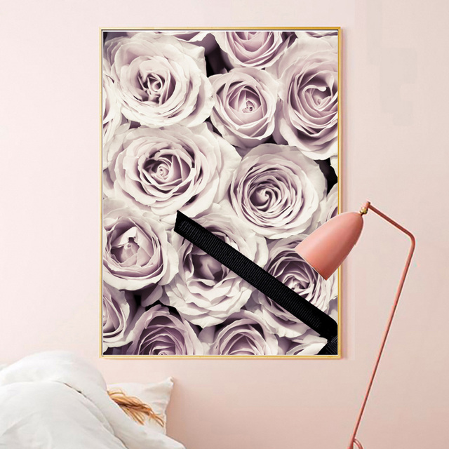 Pink Rose Dream Girl Bedroom Nordic Posters 1