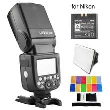 цена на Godox V860II-N I-TTL HSS 2.4G Build-In Transceiver Li-ion Battery Flash for Nikon D3000 D5500 D80 D5300 Dslr Camera Speedlight