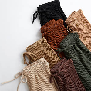 CTHL MRFZD 2018 wide leg pants female summer high waist