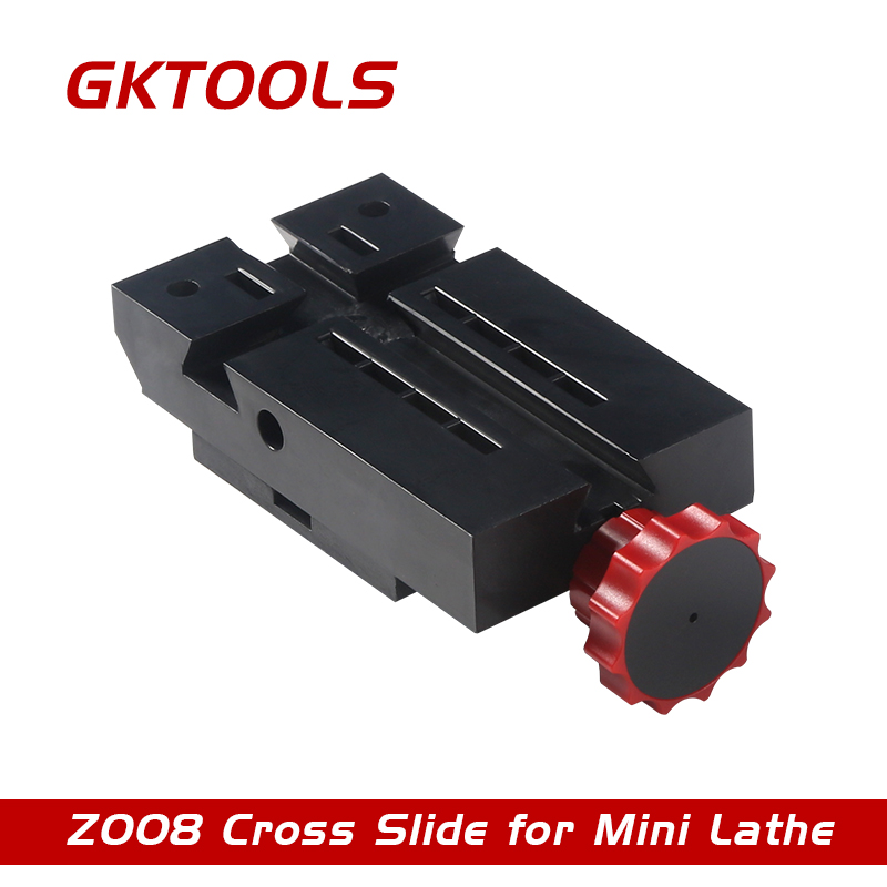 GKTOOLS, 105mm plastic cross slide for mini lathe, used when feeding/relieving axis y,z, Z008 gktools live centre rotation center cone z019 used for mini multifunction lathe