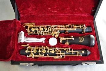 Nowy zaawansowany obój C klucz półautomatyczne drewno kompozytowe obój pozłacane klucze tanie i dobre opinie BAKELIT Niklowana NoEnName_Null Miedź-nikiel clarinet clarinet parts clarinet bell clarinet springs clarinet reeds clarinet holder