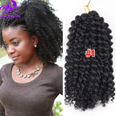 3Pcs/Lot Curly Crochet Hair 8'' Freetress Afro Kinky Curly ...