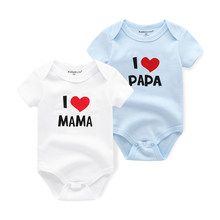 fff8a1acb Bebé niños pijama 2 unids/lote Macacao Niñas Ropa bebé recién nacido  overoles ropa de bebé Recem Nascido me encanta papá mamá ro.