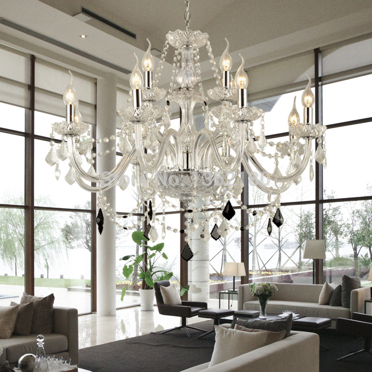 European Candle Crystal Chandeliers Ceiling Bedroom Living Room