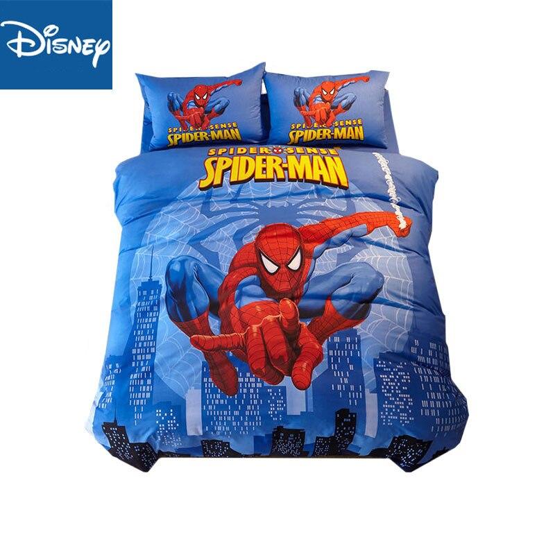 3D spider man twin size trooster cover sets queen size jongens disney lbed beddengoed 3 5 stuks thuis textiel egyptisch katoen bed sets-in Beddengoed sets van Huis & Tuin op  Groep 1