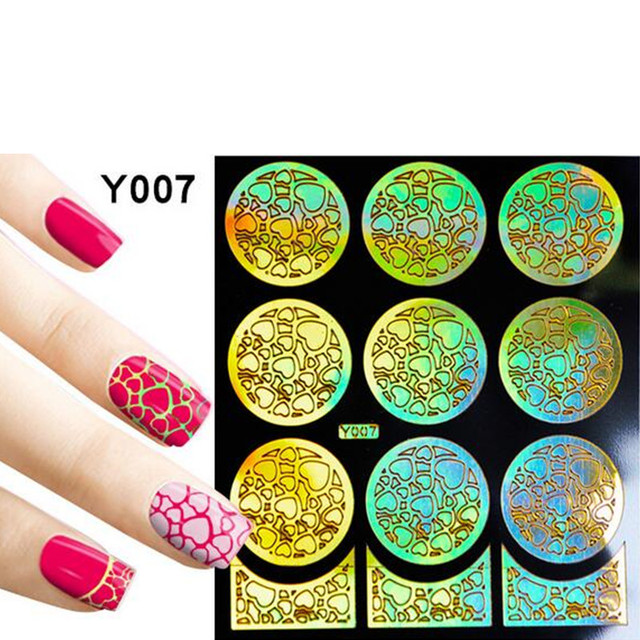1 Hoja de barniz de Uñas de Gel pegatinas para uñas pegatina arte ...