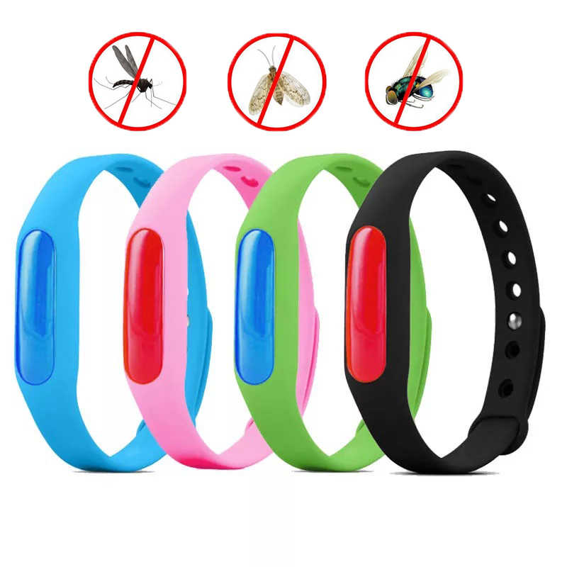 5pcs Colorful Environmental Protection Silicone Wristband Summer Mosquito Repellent Bracelet Anti-mosquito Band safe for child X