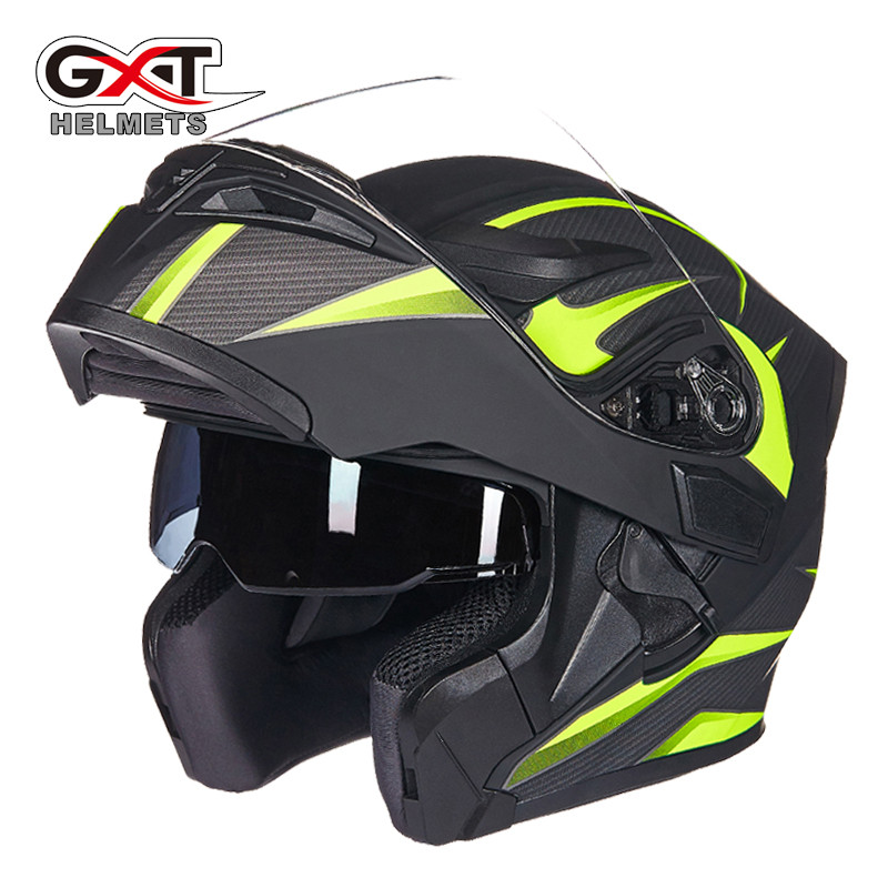 Brand GXT Flip Up Motorcycle Helmet Double lens full face helmet High quality DOT approved Moto cascos motociclistas capacete 2017 new knight protection gxt flip up motorcycle helmet g902 undrape face motorbike helmets made of abs and anti fogging lens