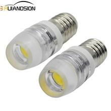 цена на 2PCS  E10/T10 Screw COB 2W LED Bulb Light Lamp Car Vehicle DIY Lighting 12V 150LM Warm White or White option Car Light Source