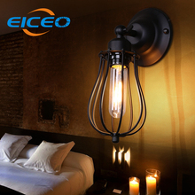 (EICEO) Industrial Retro Wall Sconce European American Country Style Interior Hallway Wall Lamp Single Head Grapefruit AC220V
