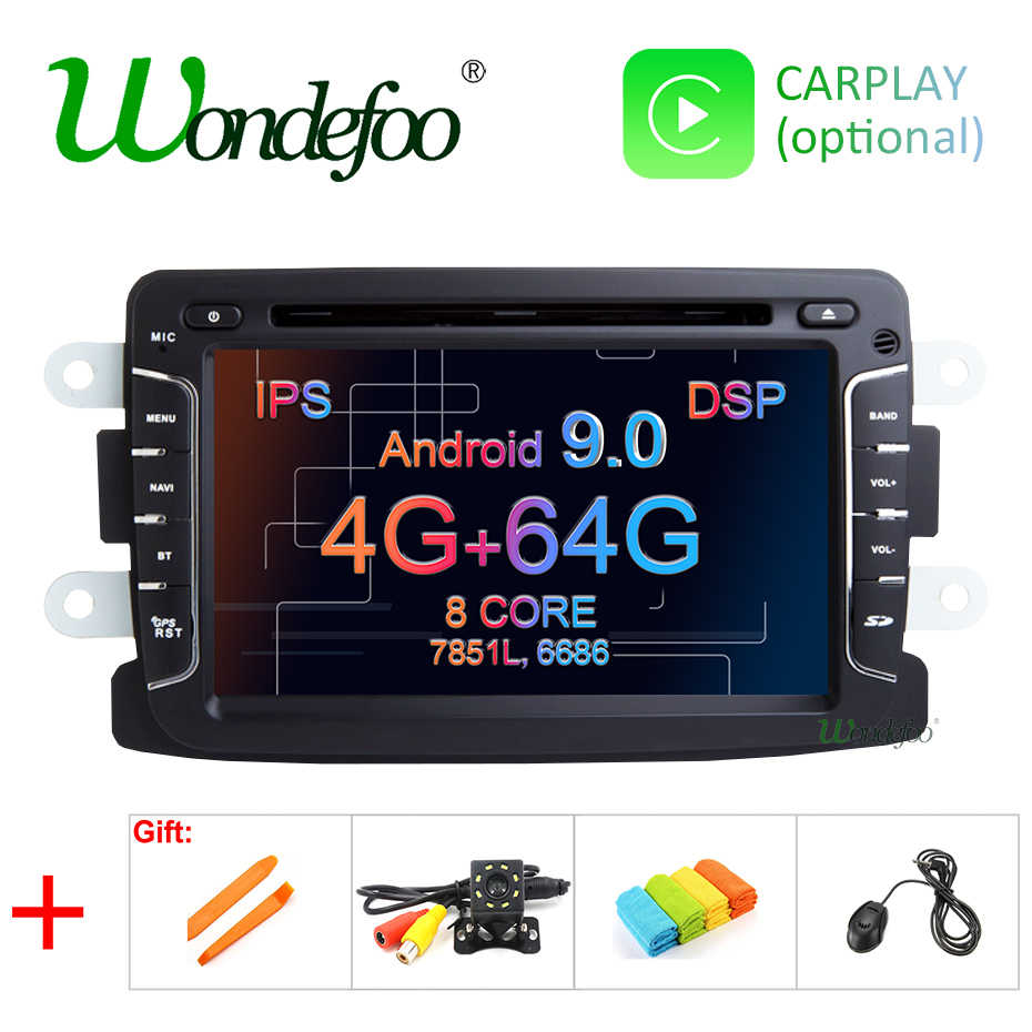 DSP IPS 4GB 64G Android 9,0 coche multimedia GPS para Dacia Sandero Duster Captur Lada Xray 2 Logan 2 Dokker Lodgy 2012-2017