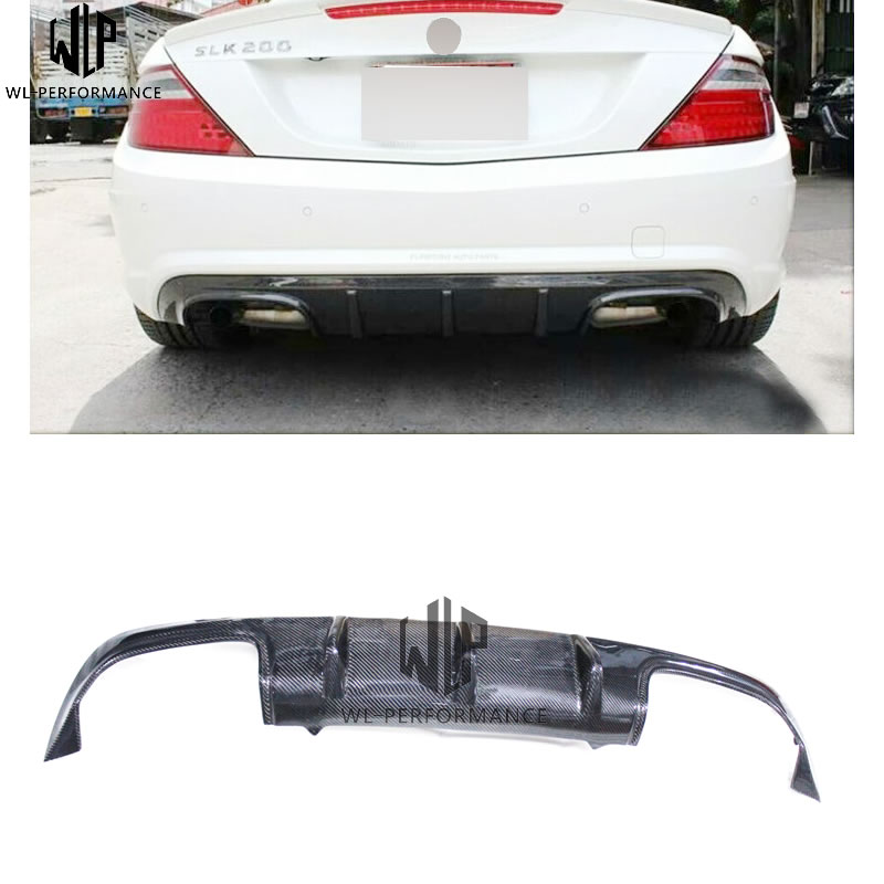 <font><b>SLK</b></font> carbon fiber rear bumper Lip rear diffuse spoiler tail lip car body kit for Mercedes <font><b>Benz</b></font> <font><b>SLK</b></font> <font><b>R172</b></font> 12-UP Car styling use image