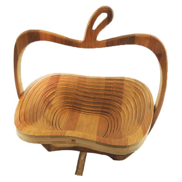 Pratico Pieghevole Cestino Cestino Di Bambu In Bambu In Forma Di