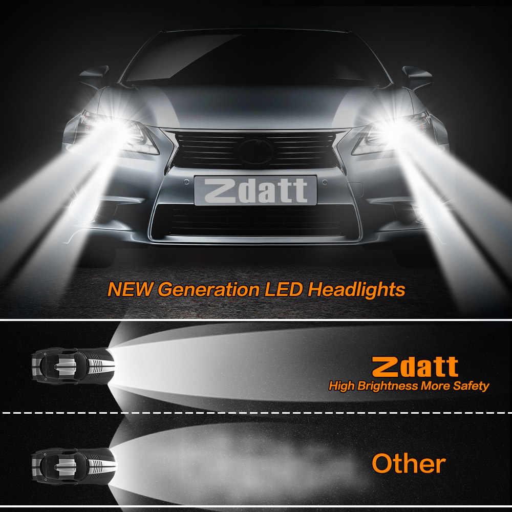 Zdatt 1 PCS Car Led Headlight Bulb H4 H7 H8 H9 H11 9005 HB3 9006 HB4 100W 12000LM Led Auto Light 12V Canbus Automobiles