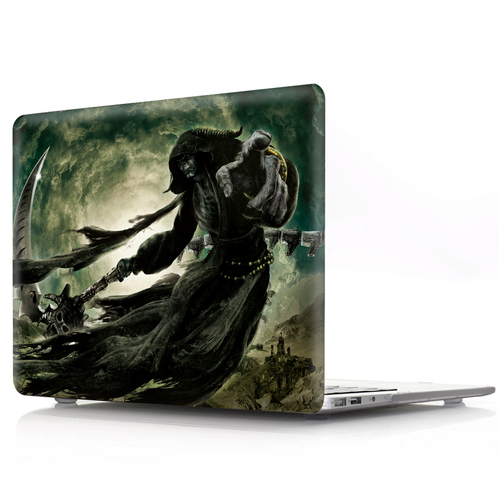 HRH Skull Pumpkin Spooky Ghosts Halloween Festival Eco friendly Laptop PC Shell Hard Plastic Case for Macbook Air Pro Retina 13 in Laptop Bags Cases from Computer Office