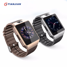 Bluetooth Reloj Inteligente DZ09 Con Cámara Smartwatch Podómetro Negro Salud Deporte MP3 Reloj Hombres Mujeres Reloj Inteligente Para Android