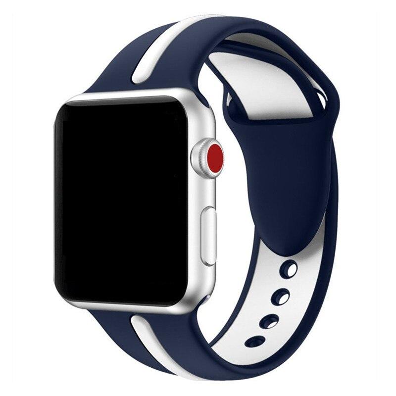 ASHEI Sport Bracelet pour Apple Série de Bande De Montre 3 38mm 42mm Souple En Silicone Bracelet pour iWatch Bandes Série 1/2 Courroie De Remplacement