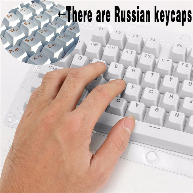 24cc1d47f5c Russian/English Languag PBT Keycaps Light penetrates Top Printed For Cherry  MX Mechanical Keyboard Key Cap Switches 108 Keyscaps