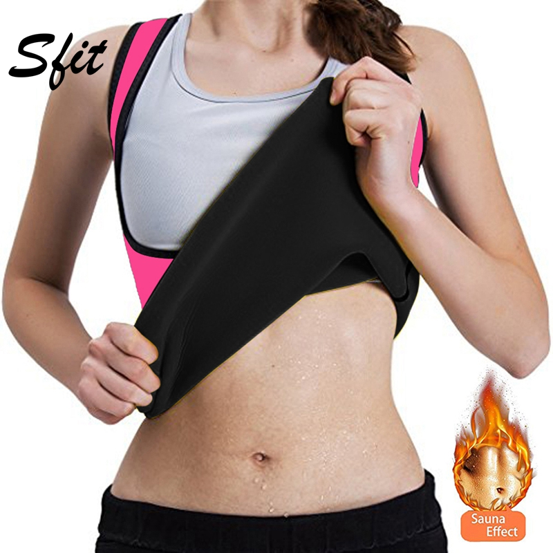 Sift 2019 Women Shoulder Strap Shaperwear Tight-Fitting Corset Self-Heating Sports Long Vest Solid Color Top Trainer Body Shaper