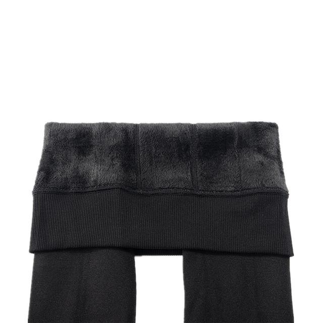 Women's Velvet Lined Leggings with High Elastic Waist