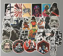 Star Wars Style Wall Stickers 25 pcs Set