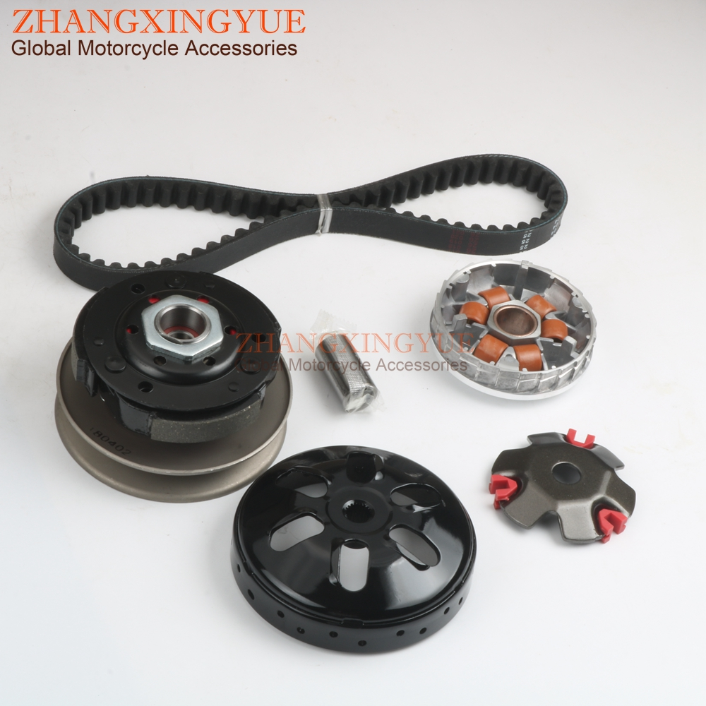 Racing Quality Variator 7G & Clutch Kit & 729 Belt for GY6 50cc 139QMA 139QMB 12 inch 4stroke