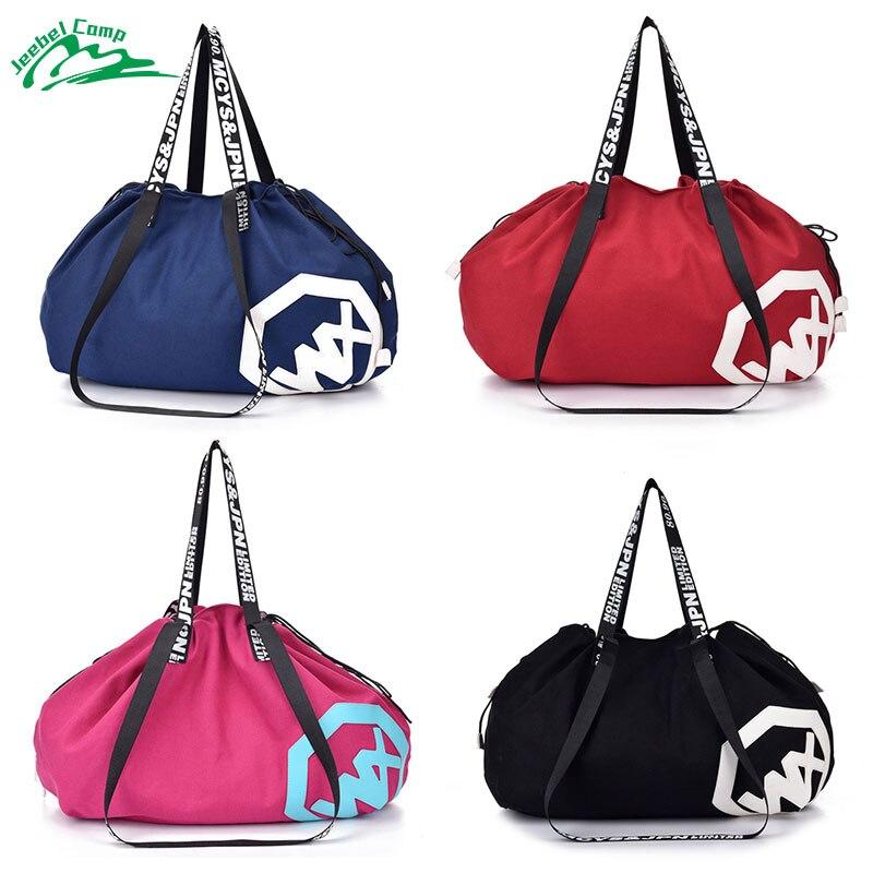 Jeebel Sports Canvas Bag Multifunctional Yoga Mat Bag Gym Pilates Holdall Outdoor Travel Women Lady Sporting Shoulder Fitness