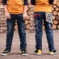 Джинсы для Подростков Мальчиков Рваные Джинсы для Детей Мальчиков Случайные Джинсовые Прохладный Брюки Ребенок Ребенок Мультфильм Дети Ковбой Брюки Школы