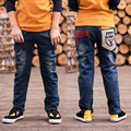 Jeans for Teenagers Boys Ripped Jeans for Kids Boys Casual Denim Cool Pant Baby Child Cartoon Children Cowboy School Trousers