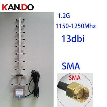 1200 Mhz 13dbi gain 1.2G Yagi antenne, 3 meters kabel inbegrepen, 1.2G draadloze transceiver antenne cctv accessoires FPV antenne