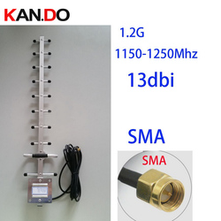 1200Mhz 13dbi gain 1.2G Yagi antenna,3 meters cable included, 1.2G wireless transceiver antenna cctv accessories FPV antenna