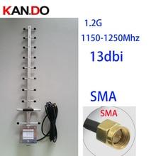 1200Mhz 13dbi guadagno 1.2G antenna Yagi, antenna 3 metri di cavo incluso, 1.2G ricetrasmettitore wireless antenna accessori cctv FPV antenna