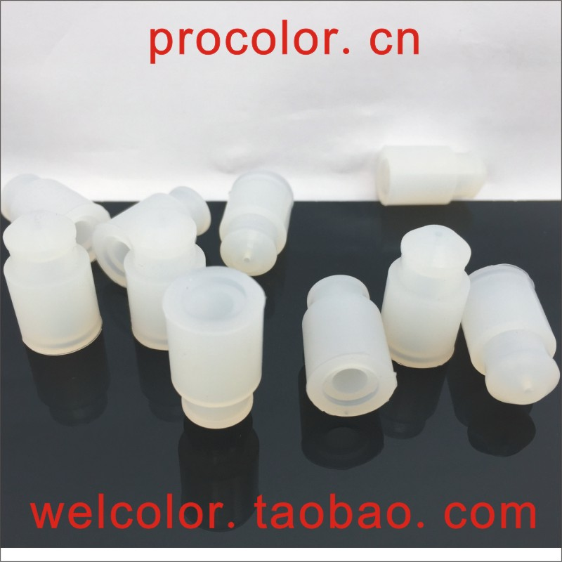 """17G 1.5MM long needle 5 5mm hollow silicone rubber sleeve plug stopper With handle OD 1/2"""" 12.7 12.5 12.5MM ID 1.5 1.2 3/64"""" MM"""