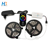 Led Strip Light 5050 Led Strip Light Waterproof Led Ribbon RF Remote Controller With Power Adapter Led Tape For Home Decoration