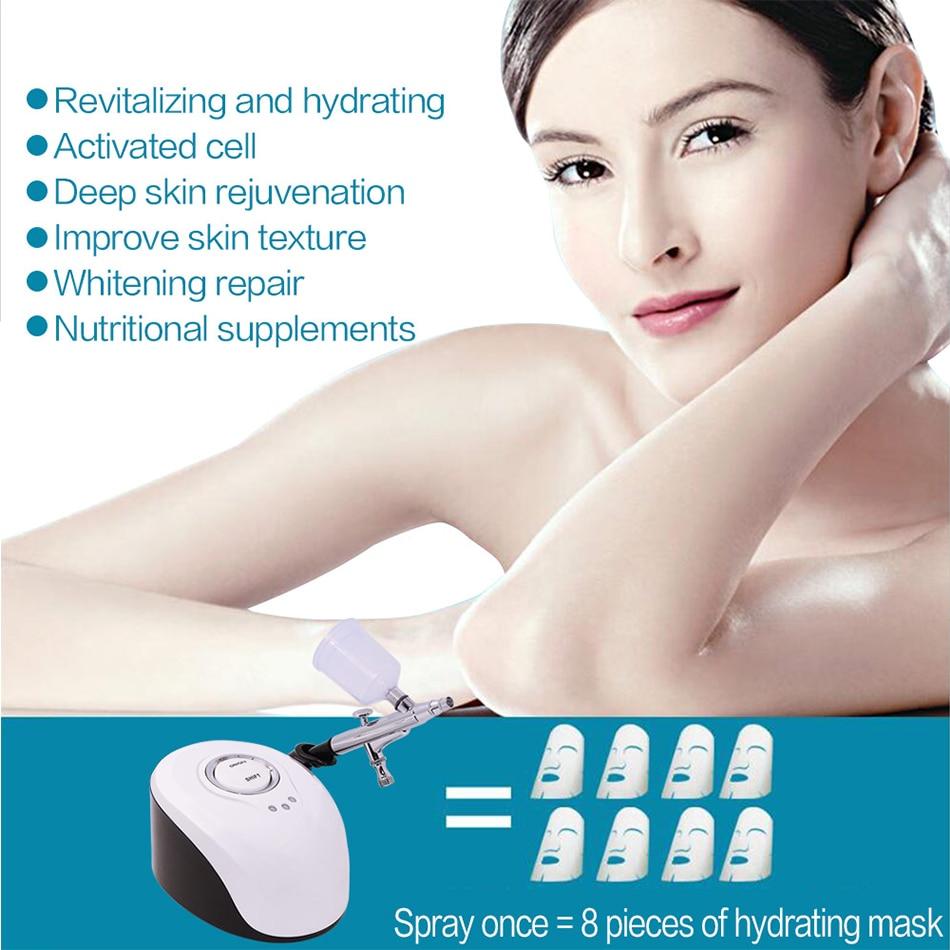 Máquina rociadora de masaje de SPA portátil Nano vaporizador de agua medidor de oxígeno nebulizador para equipos de belleza Facial herramientas de cuidado Facial-in Masaje y relajación from Belleza y salud    3