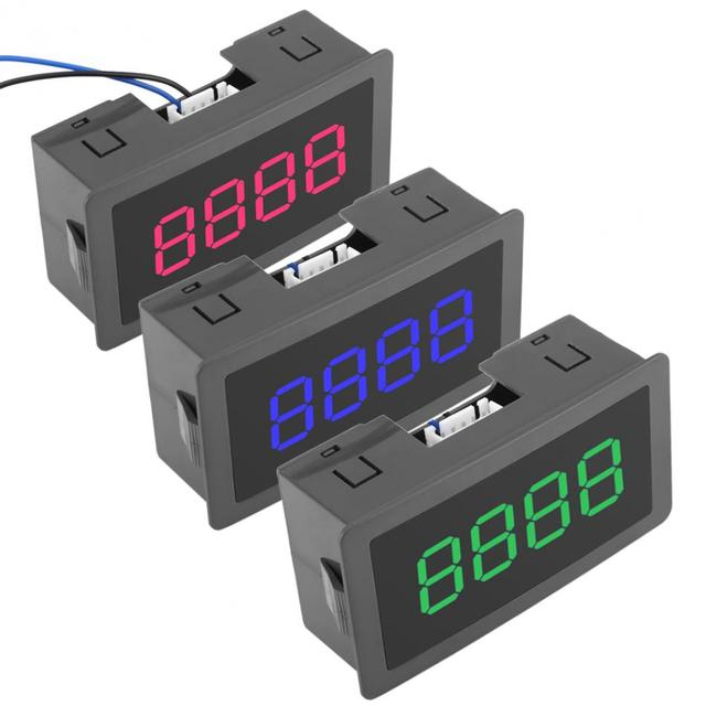 Digital Counter DC LED Digital Display 4 Digit 0-9999 Up/Down Plus/Minus Panel Counter Meter with Cable