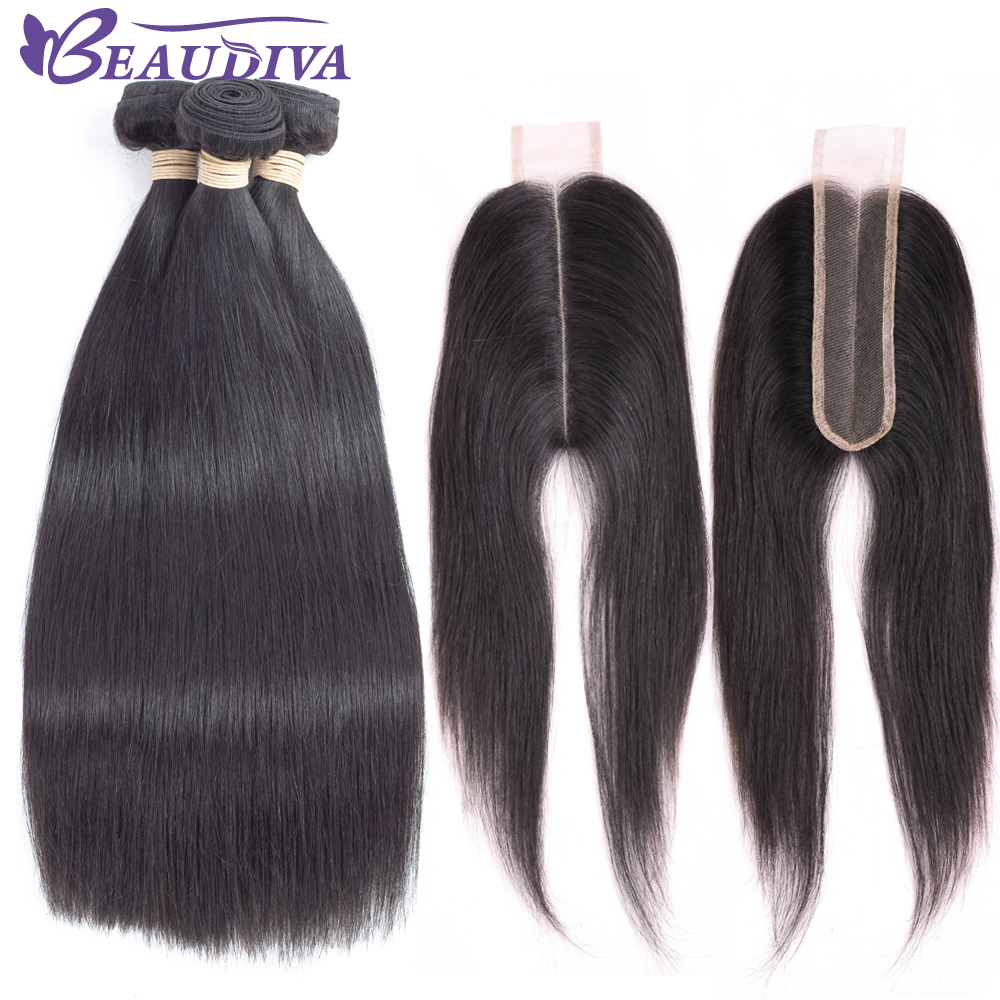 Remy Hair Long Middle Part lace Closure with Bundles Peruvian Human Hair bundles with Closure Hair