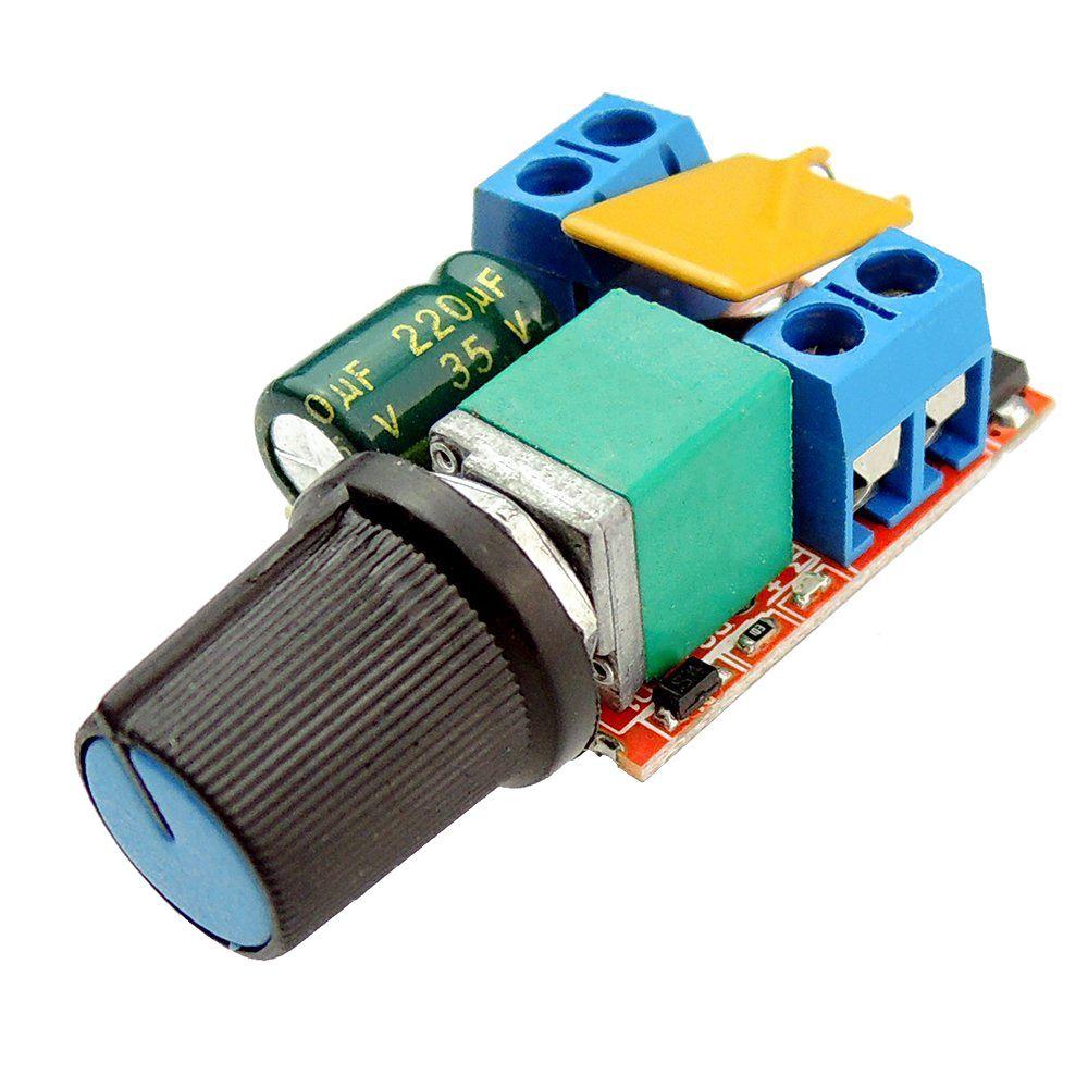 LIXF-Mini DC Motor PWM Speed Controller 3V 6V 12V 24V 35VDC 90W 5a DC Motor Speed Control Switch LED Dimmer