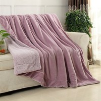 Luxurious Warm Thick Sherpa Throw Blanket Coverlet Reversible Fuzzy Microfiber All Season For Bed Or Couch
