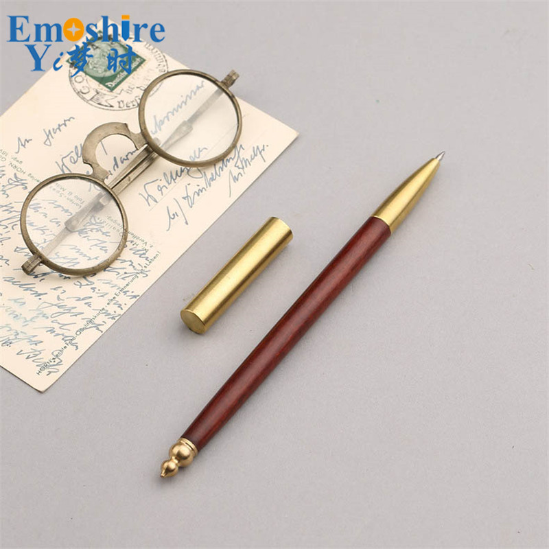 New Arrival Fashion Wholesale Creative Gel Pen Wooden Brass Roller Ball Pen Advertising Gifts Custom Logo for Business Gift P403 hot classic signature pen set wooden crafts for company meeting gifts ball point pen roller ball pen for writing supplies p050
