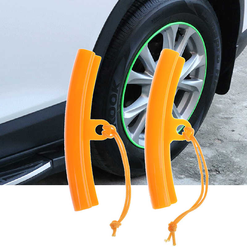 1/2Pc For Motorcycle Rims Tool Universal Wheel Rim Protector Saver Tyre Changing Edge Protection  Pro Plastic Orange