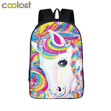 Unicorn Backpack for Children School Bags Kawaii mochila infantil Boys Girls Schoolbag Backpack Zoo Toddlers Gift Kids baby bags(China)