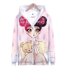 LUCKYFRIDAYF New CRY BABY print Fashion 3D Zipper Hoodies Women Spring Cool Skull Print Long Sleeve Hoodie Popular Soft Clothes(China)