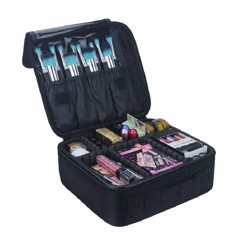 Professional Beautician Waterproof Cosmetic Bag Portable Travel Organizer Bag Necessaries Large Capacity Women Toilet Makeup Bag