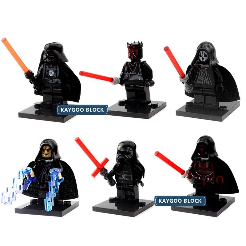 6pcs Star Space Wars Action DIY Figures Kylo Ren Darth