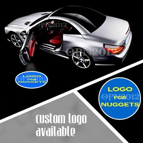 ФОТО Car Door LED Logo Welcome Laser Light Projection Spotlight For DENVER NUGGETS Basketball Car Door Step Shadow LED Light #1218