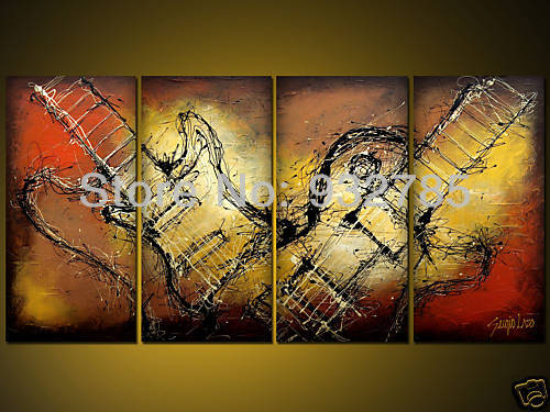 Aliexpress.com : Buy Free Shipping Oil Painting Guitar