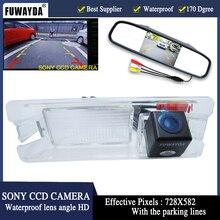 FUWAYDA Auto Vista Posteriore SONY Telecamera a Colori con posteriore auto macchina fotografica di parcheggio monitor dello specchio per Nissan Marzo Renault Logan Sandero HD