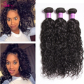 Top 7A Malaysian Spanish Curly Hair Weave Bundles 3Pcs/lot Cheap Unprocessed Human Hair Malaysian water wave Hair Extensions